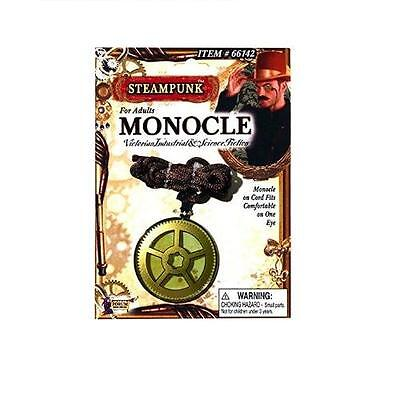 Steampunk Gear Monocle Accessory Victorian Industrial Brown Costume