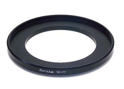 Metal Step up ring 58m to 77mm 58-77 Sonia New Adapter