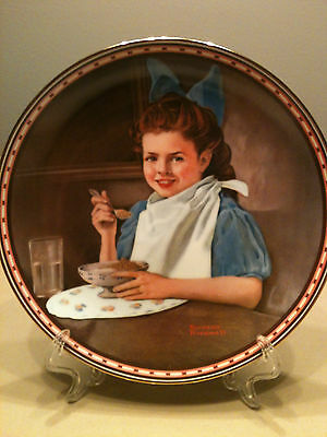 "NORMAN ROCKWELL COLLECTOR PLATE ""GOOD INTENTIONS"" NIB"