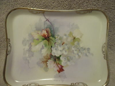 SUPER HAND PAINTED GRAPE DECORATED PORCELAIN DRESSER TRAY ROYAL MUNICH
