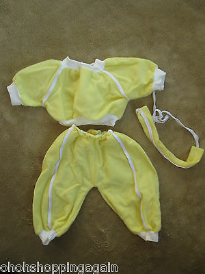 Yellow Track Suit Preemie Cabbage Patch Kids CPK Doll Clothes Vintage Outfit