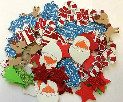 50 Christmas Self Adhesive Foam Shapes Stickers Teacher Supply Gingerbread Candy