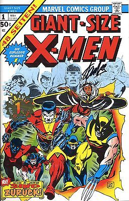 GIANT SIZE X-MEN #1 GOLD signed STAN LEE  GERMAN REPRINT-VARIANT lim.111 Ex.