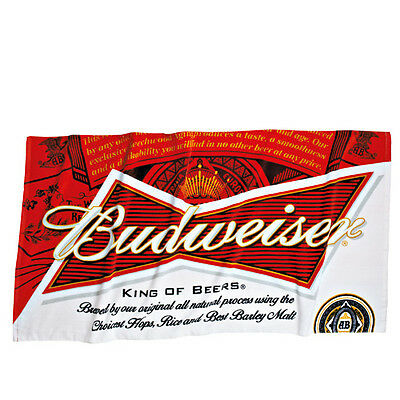 """Budweiser 100% Cotton Beach Towel 30"""" x 60"""" Brand New Free Shipping in the USA!!"""