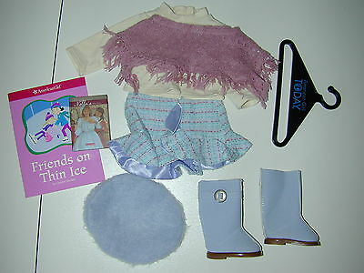 American Girl Doll Paris France French Outfit Nellie Promise Book Clothes Skirt