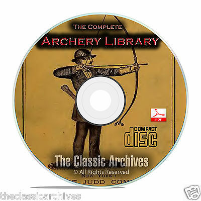 Archery Bow and Arrow Longbow Shortbow Archer Hunting Toxophilus 35 Books CD B70