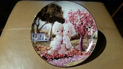 "Hamilton Collection - Precious Moments ""Love One Another"" Sam Butcher Plate"