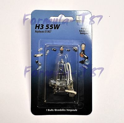 EIKO H3 01007 ONE BULB 55W HEAD FOG LIGHT STOCK COLOR REPLACEMENT LAMP HALOGEN