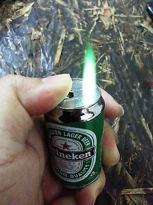 HEINEKEN BEER Cigarette Lighter+Flash light Collectible Butane Novelty Cool Gift