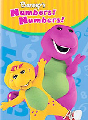 BARNEY'S NUMBERS NUMBERS DVD Songs learning preK daycare toddler music math fun
