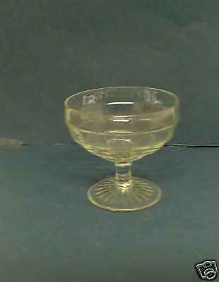 "Anchor Hocking Glass BLOCK OPTIC Clear Sherbet 3 1/4"" 5 oz Depression"