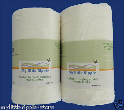 Flushable Biodegradable Bamboo Nappy Liners for Cloth Nappies