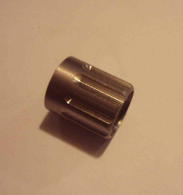 """STAINLESS  HUGHES 5/8""""OD x 3/4"""" X-LONG  Fluted Protector for 1/2""""-28tpi barrels"""