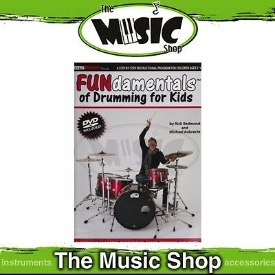 New The FUNdamentals of Drumming for Kids Music Tuition Book & DVD