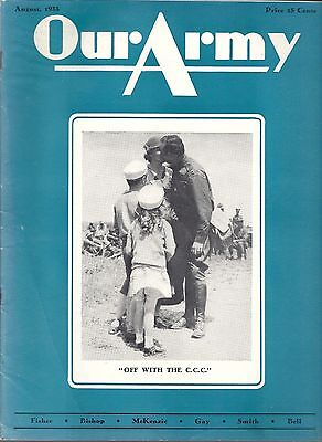 Our Army magazine August 1933 Civilian Conservation Corp