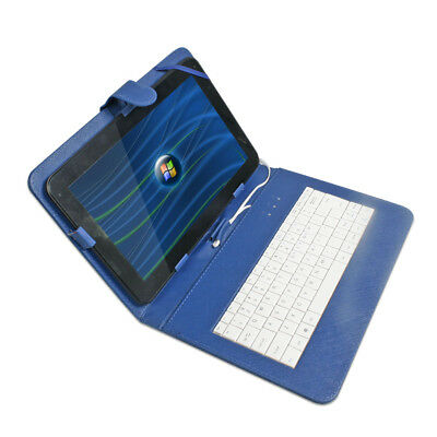 Generic 10.1' inch Micro USB Keyboard Cover Case For Android Windows Tablet Blue