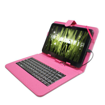 Rose Red 10.1' inch Micro USB Keyboard Cover Case For Android Windows Tablet