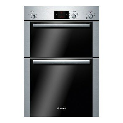 Bosch HBM13B251B Avantixx Brushed Steel Built In Double Electric Cooking Oven