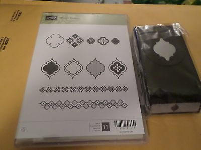 STAMPIN UP MOSAIC MADNESS 11 PC CLEAR STAMP SET & MOSAIC PUNCH
