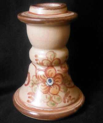 ALGARVE PORTUGAL Redware Pottery Terracotta Candlestick Candle Holder, 4""