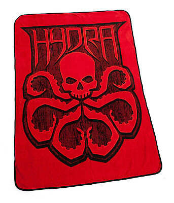 """MARVEL Agents of SHIELD Licensed LG 60"""" Official HYDRA Icon Logo Fleece BLANKET"""