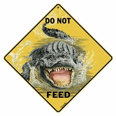 Do Not Feed the Gator Sign NEW 12X12 Metal Alligator