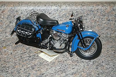 FRANKLIN MINT HARLEY DAVIDSON 1948 PANHEAD 1:10 SCALE - SHIPS FAST