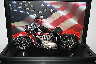 FRANKLIN MINT HARLEY DAVIDSON SPORTSTER MOTORCYCLE 1:10 SCALE W/ DISPLAY CASE