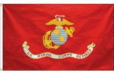 3x5 ft USMC United States Marine Corps RETIRED Flag Outdoor Nylon Made in USA