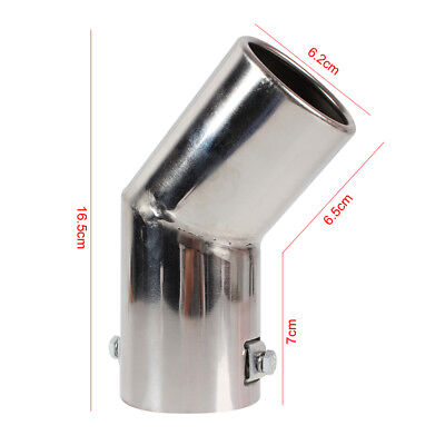 Universal Car Stainless Steel Chrome Round Exhaust Muffler Tip Pipe Silver New