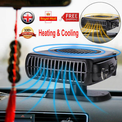 12V 200W Car Van Ceramic Auto Heater Cooler Fan Defroster Demister Portable 2in1