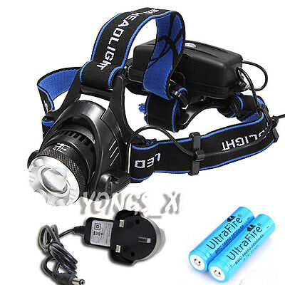 Adjustable 2000LM CREE XM-L T6 LED 3Mode Headlamp Zoomable Headlight Torch Light