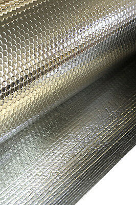Large Double foil bubble insulation 37.5 square metres ,roof,wall,radiator,attic