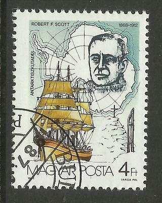 HUNGARY 1987 ROBERT FALCON SCOTT Single Value Fine Used CTO
