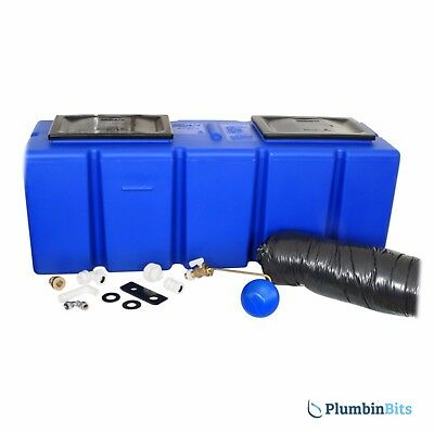 "Polytank 25 Gallon Polyblue Cold Water Coffin Loft Storage Tank 46"" x 17"" x 15"""