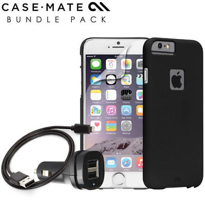 Genuine Case-Mate Accessory Bundle Pack for Apple iPhone 6 - Black FT105423