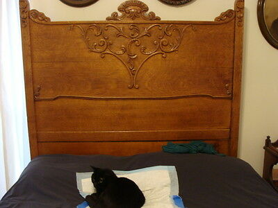 Antique Oak Double/Full Bed