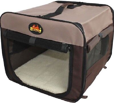 CANVAS FLAT PACK CARRIER - Pet Dog Cat Portable Home Carry Cage dm PawMits Bed