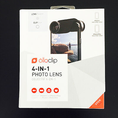 Olloclip iPhone 6/6 Plus 4-in-1 Lens Kit Macro Fisheye Wide-Angle White/Gold
