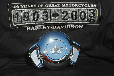 HARLEY DAVIDSON  AIRWING HORN COVER W/ 100TH ANNIVERSARY PRISMATIC MEDALLION