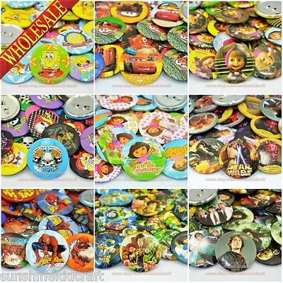 18Pcs Tin Button pin badges,45mm,Clothes Decoration kids Collection Party Gifts