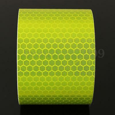 3m Fluorescence Pure Yellow Reflective Car Sticker Warning Conspicuity Tape Roll