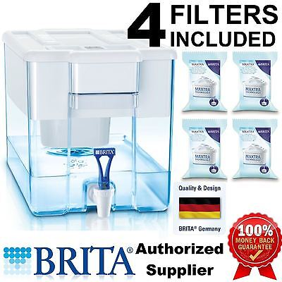 Brita XXL Optimax Cool Fridge/Counter Water Filter 8.5L White + 4 Maxtra Refills
