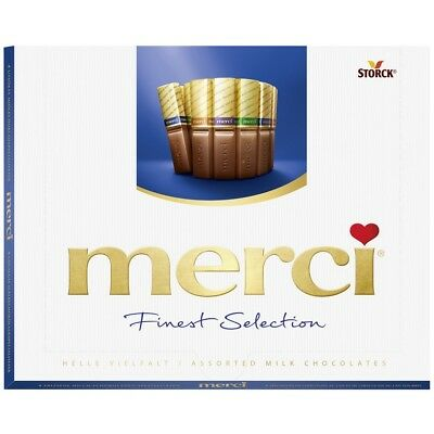STORCK - MERCI Finest Selection Milk Chocolate 250g - German Production