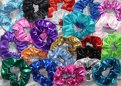 Foil / Shiny Hair Scrunchie - Cheer, Dance,Gymnastics,Sports,Team Spirit,Pageant