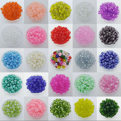Hot 500Pcs 4mm Czech Glass Seed Spacer beads Jewelry Making DIY 43Colors Miexd