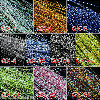 Crystal Flash Fly Tying Material - Krystal Lure Making -- 10 Colors (150pc Each)