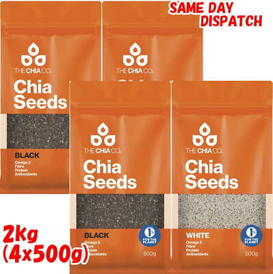 2 x 1KG The Chia Co. CHIA SEED AUSTRALIAN GROWN SEEDS 2KG