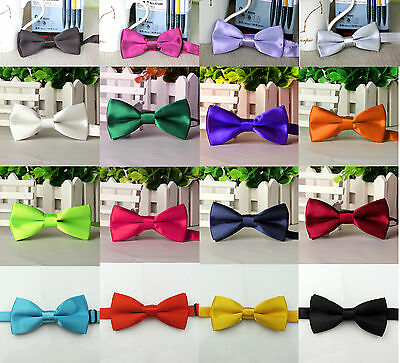 Baby Boy Kid Children Pre Tied Party Wedding Tuxedo Bowties Tie Necktie