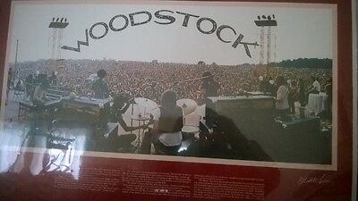 Woodstock 10th Festival Poster Signed Limited Edition Joe Cocker's band pictured